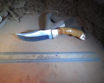 Eric's Custom skinning Knife with Pacific Pine handles