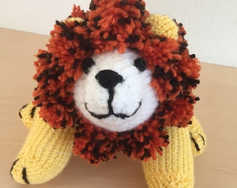 Knitted snuggly lion