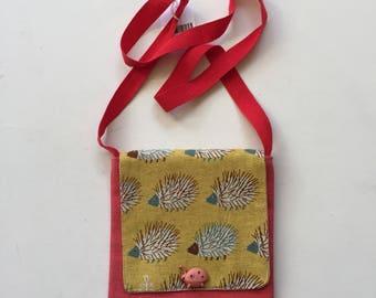 Pink & Yellow Hedgehogs Childrens Shoulder Bag