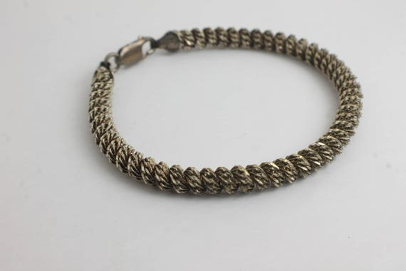 Milor Twisted Wheat Sterling Silver Chain Bracelet