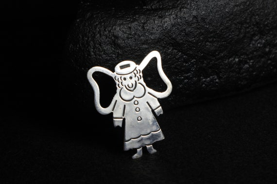 Large, contemporary, halo, angel pendant/ pin, mad