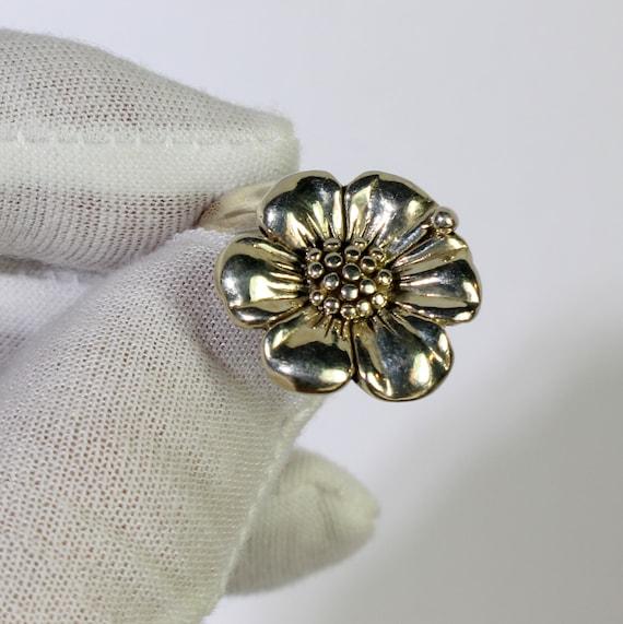 Sterling Silver Flower Daisy Ring, Daisy Ring  925