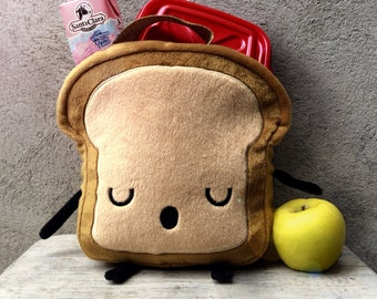Mr. Litttle Bread slice LUNCHBOX, fabric lunch bag for boys, waterproof lunch bag, cute lunch box, cute kawaii lunch bag for boys, bread