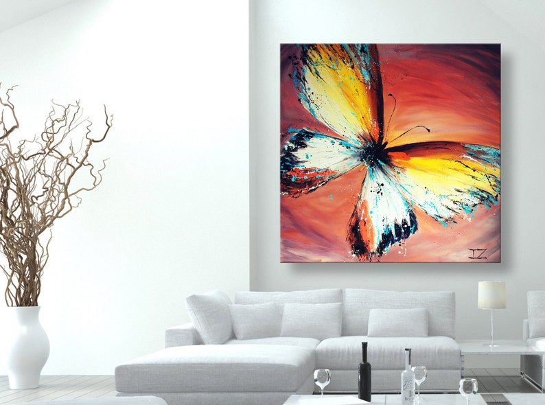 Dipinti Murali E Pittura Ad Ago : Pittura a olio arte moderna arte pittura pittura astratta etsy