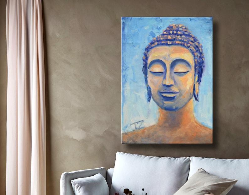 Dipinti Murali E Pittura Ad Ago : Pittura a olio arte moderna buddha arte su etsy