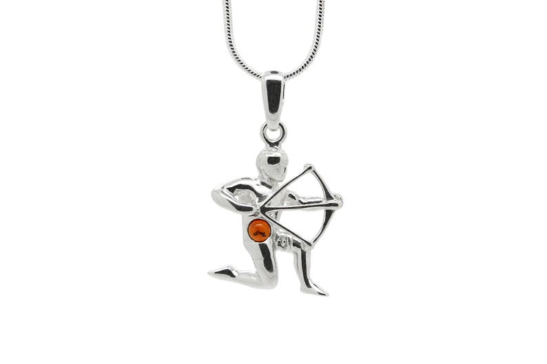 BALTIC AMBER STERLING SILVER 925 LIBRA ASTROLOGY PENDANT NECKLACE JEWELLERY GIFT