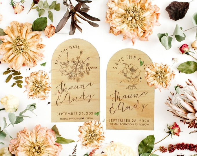 Wild Beauty Save the Date Cards - Set of 10