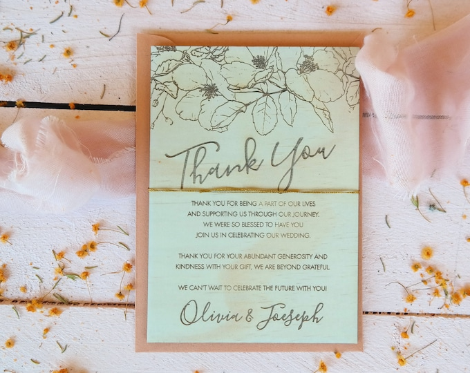 Bloom Wood Thank You cards - Set of 10
