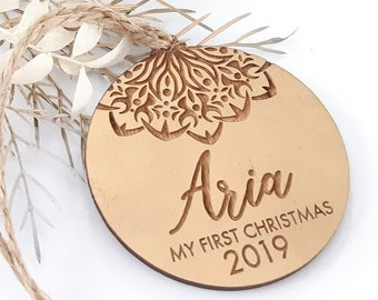 Gold Baubles - My First Christmas - Custom gifts