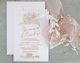 Bohemian wedding stationery - Boho Designs - Linen Paper - Pack of 10
