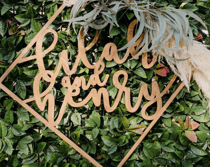 Wedding signs. - Photobooth Signs - Customised timber laser cut hoops