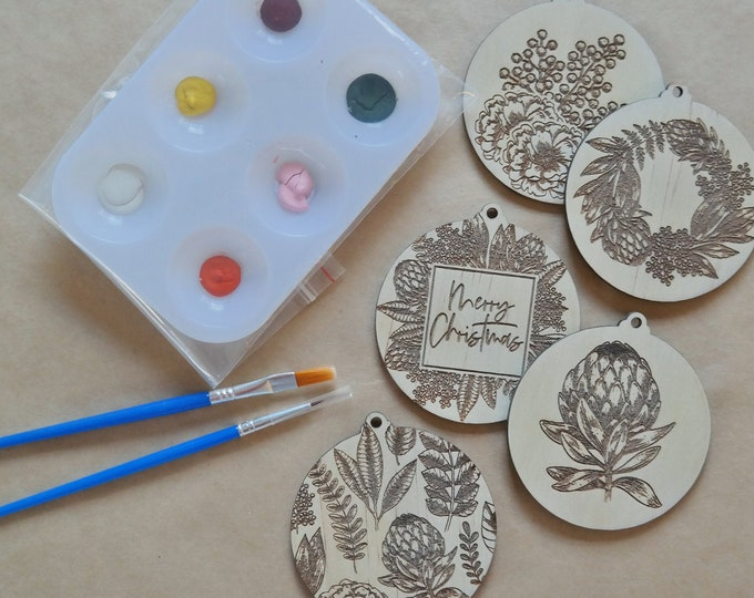 DIY Painting Kit - Paint your own Christmas Baubles  - Australiana