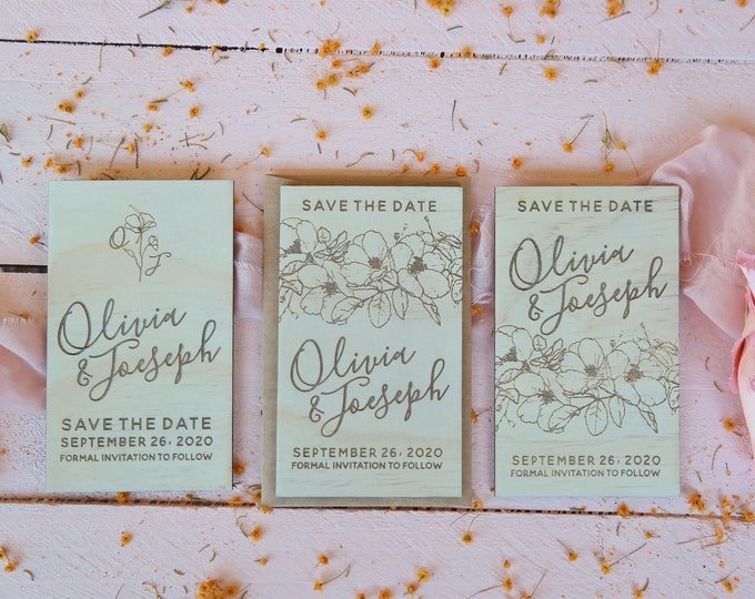 Bloom Save the Date Cards - Set of 10