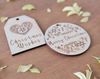 Christmas gift tags. Wooden gift tag. Swedish Christmas.