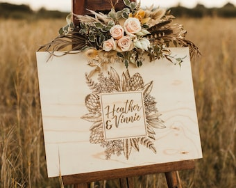 Wedding Welcome Sign. Large Wedding Signs. Australian Natives.