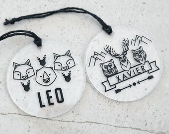 Bag Tags. Acrylic bag tags for boys and girls