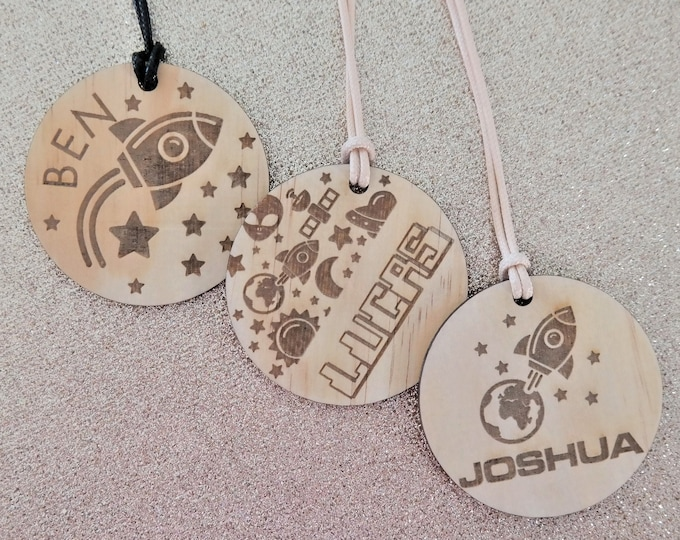 Luggage Tags Children. Bag Tag Boys. SPACE