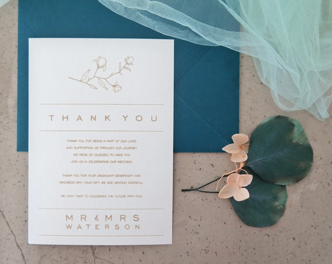 Grace Wedding Thank you card - Set of 10