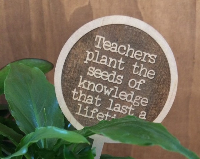 Teachers Plant sticks. Teachers gifts