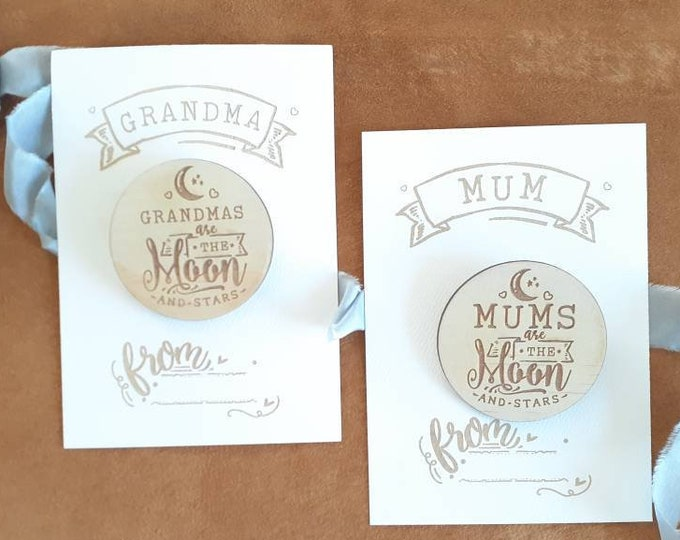 Mothers Day Badges - Badge and Gift Card