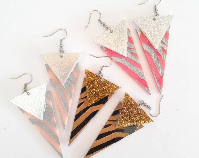 Tiger Queen - Tiger Earrings - Dangle