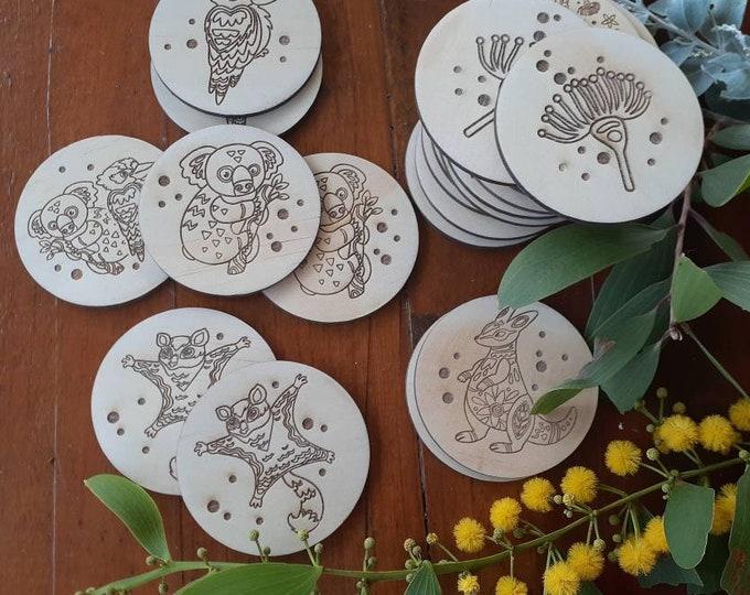 Memory Game - Wooden memory game - Australiana