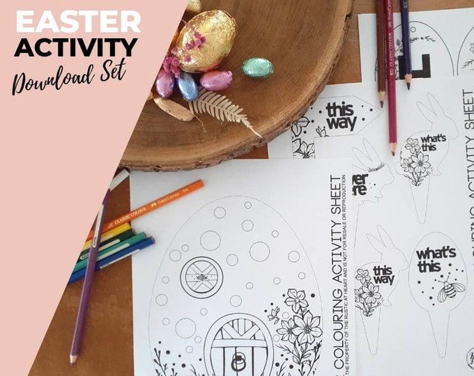 Easter Activity Pack - Coloring In - Easter Decorations.