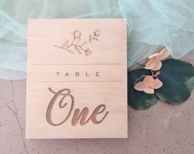Grace Wood Table numbers