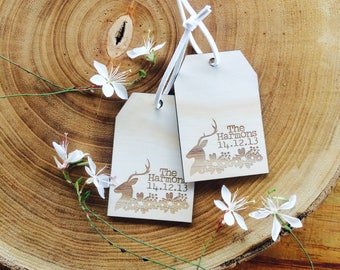 Luggage tags. Customised newly wed luggage tags. Wedding gift