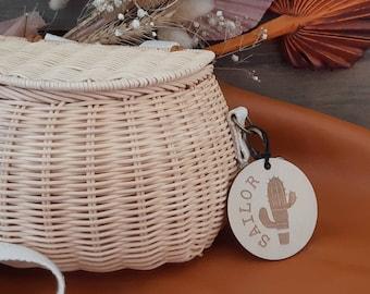 Bag Tags. Boho Timber bag tags