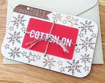 Gift card holder. Laser engraved gift card holder.