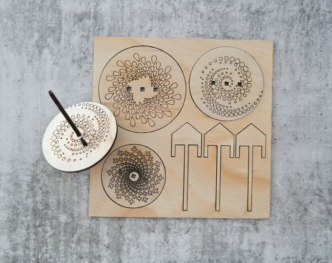 Spin Top - DIY - Make your own Spin Tops - spirals