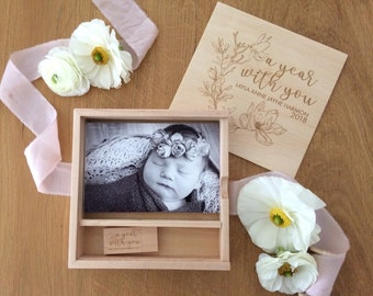 Photo box and USB. Keepsake box.