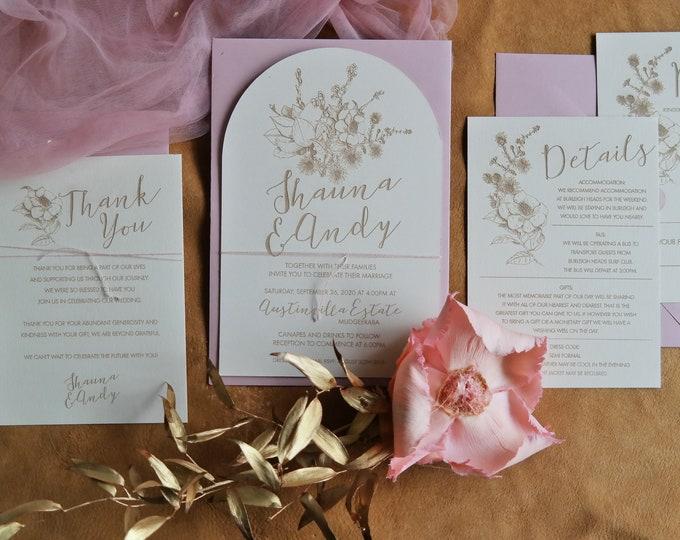 Wild Beauty Wedding Invitations Bundle - Set of 10 and Bundle