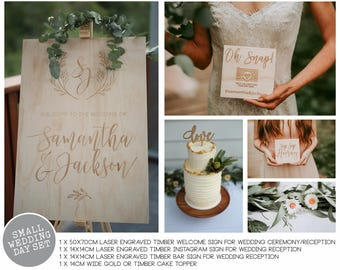 Wedding Signs Set - Small Wedding Day styling set.