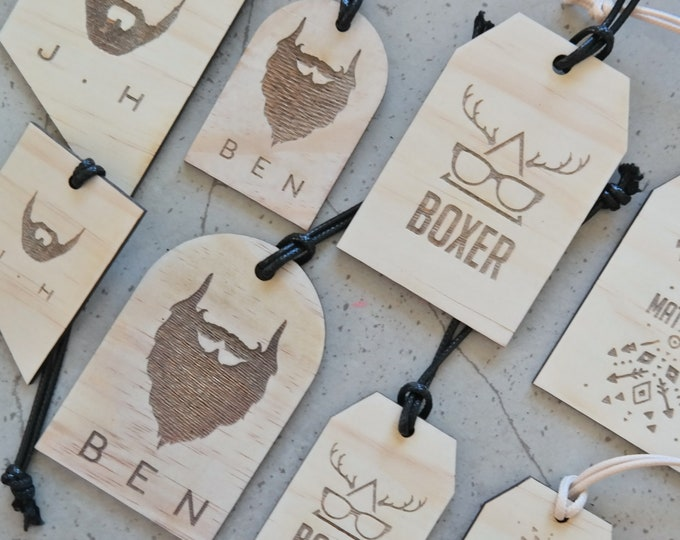 Luggage tags. Mens Gift Ideas. Set of 2