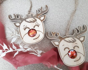 Reindeer Christmas decoration. Chocolate holder.