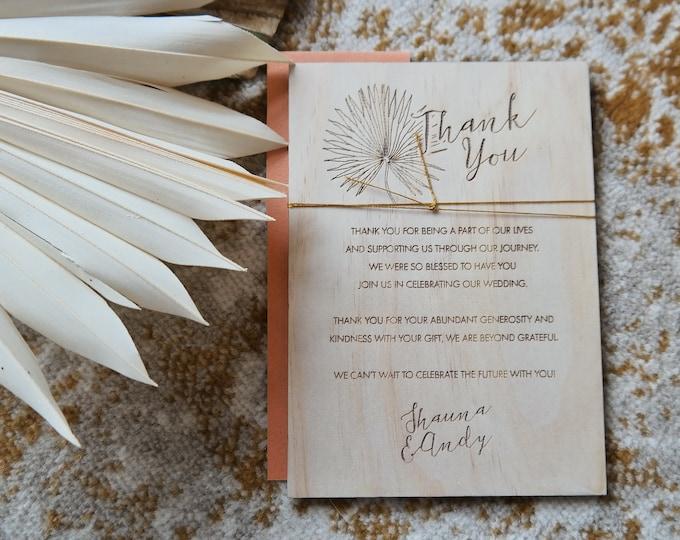 Pandanus Palm Thank You cards - Palm print - Set of 10