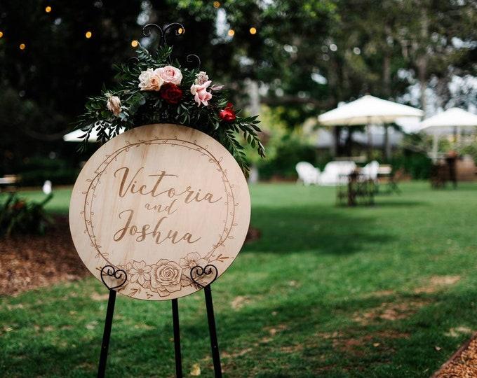Wedding Sign. Round Wood sign