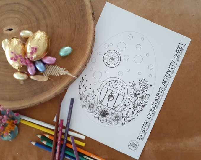 Easter Bunny House Colouring In Activity Sheet.