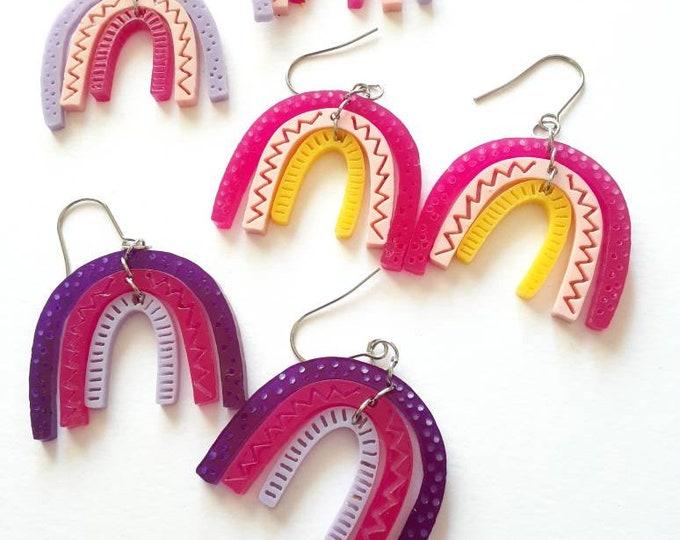 Rainbow earrings. Acrylic Earrings