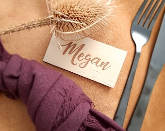 Place cards- Wood place cards. guest names - place settings