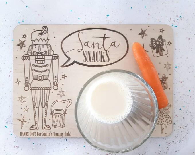 Santa's milk and cookies - Santa tray - Nutcracker