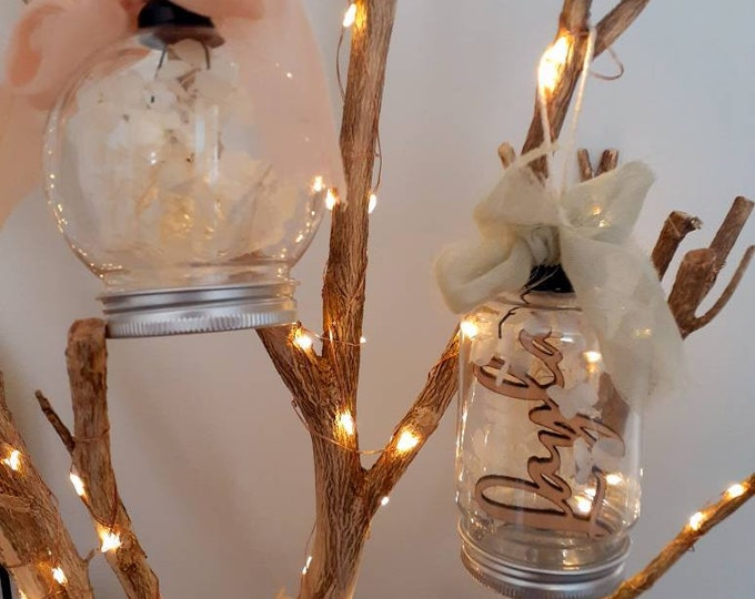 Dried Flower Bauble Ornaments.