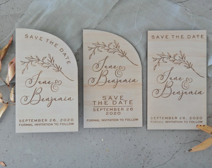 Vines - Save the Date Cards - Set of 10