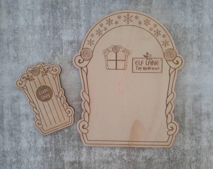 Elf Door & House - Christmas Decoration
