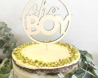 Oh Boy cake topper. Baby Shower cake topper.
