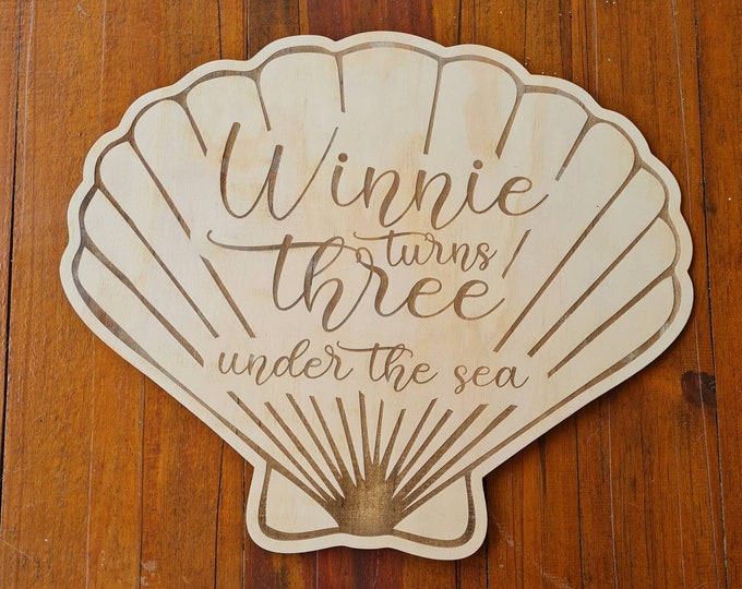 Mermaid Party. Birthday Signage - Wood Event signs