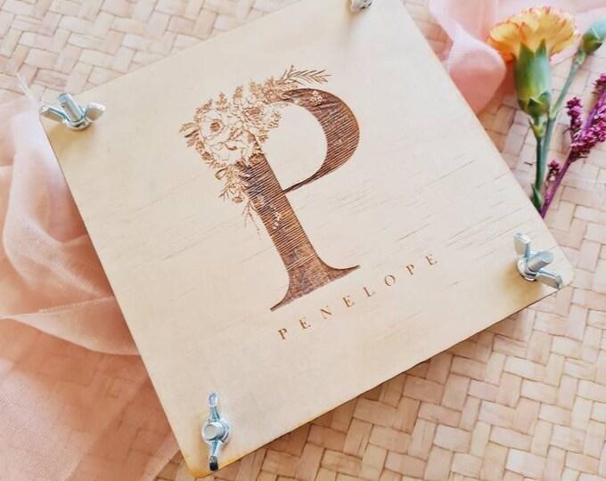 Flower Press - Square Monogram Customised Flower Press - Small - Gift