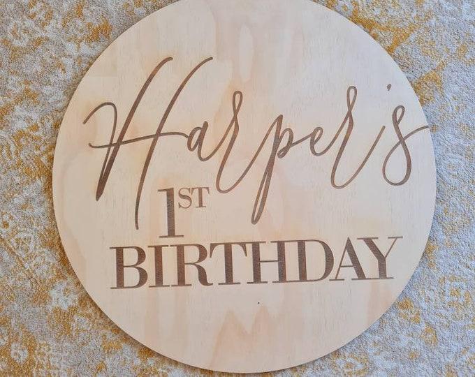 First Birthday Sign - Birthday sign.